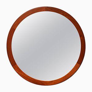 Runder Dänischer Spiegel mit Teakholz Rahmen von Kai Kristianssen, 1960er