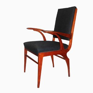 Awesome Italian Cherry Desk Chair, 1950