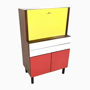 Multicolored Formica Secretaire, 1950s