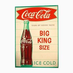 Insegna pubblicitaria Coca-Cola vintage, anni '60