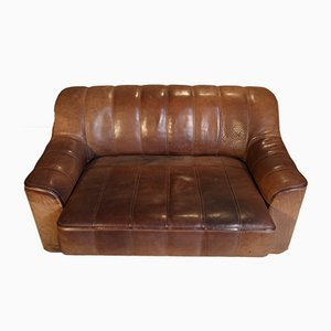 DS-44 Double Seat Leather Sofa from de Sede, 1970s