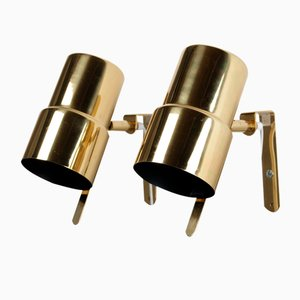 V239 Brass Night Lights by Hans-Agne Jakobsson for Markaryd, 1960s, Set of 2