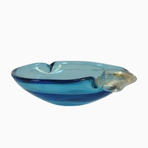 Italian Blue Murano Glass Bowl, 1950s