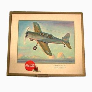 Publicidad de Coca Cola con aeroplano, 1940