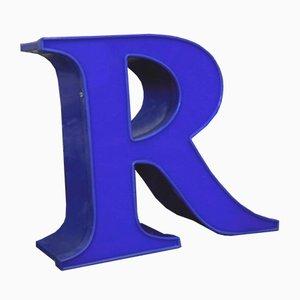 Blauer Dekorativer Buchstabe R, 1970er