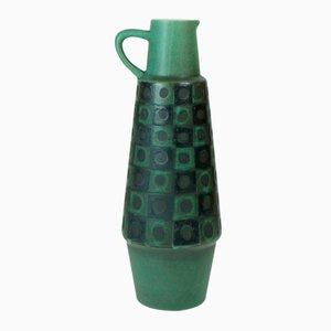 Vaso nero e verde pavone in ceramica di Schloßberg, Germania, anni '60