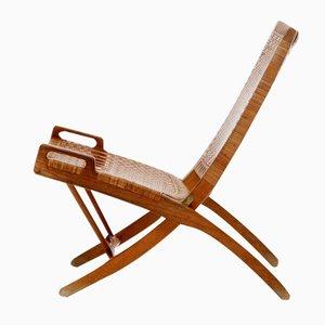 Danish Folding Chair by Hans J. Wegner for Johannes Hansen, 1950s