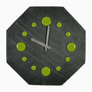 Vintage Octagonal Slate Wall Clock, 1960s
