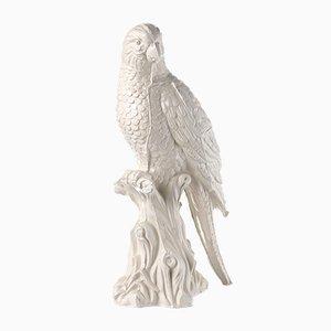 Papagei aus Glasierter Keramik von Botteganove