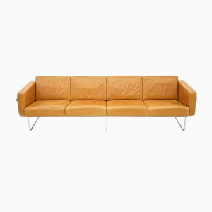 Swiss Four-Seater Leather Sofa by Hans Eichenberger for Strässle, 1970s