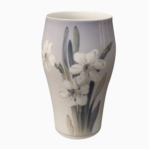 Dänische Vase mit Blumenmotiv von Royal Copenhagen, 1957