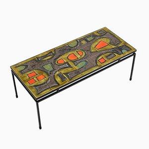 Table Basse en Céramique Peinte à la Main par Juliette Belarti