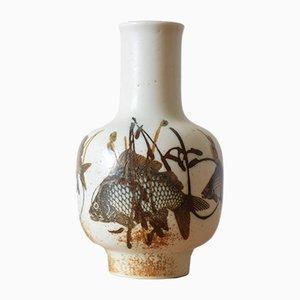 Dänische Diana Vase mit Fischmotiv von Nils Thorsson für Royal Copenhagen, 1970er
