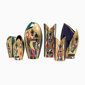 Vases from Fiamma, 1950s, Set of 6