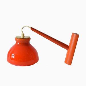 Vintage Danish Orange Glass Wall Lamp from Holmegaard