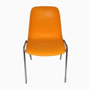 Chaise d'Appoint Vintage Orange, 1970s