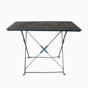 Belgian Industrial Steel Garden Table