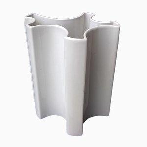 Weiße Vase von Angelo Mangiarotti für Brambilla, 1960er