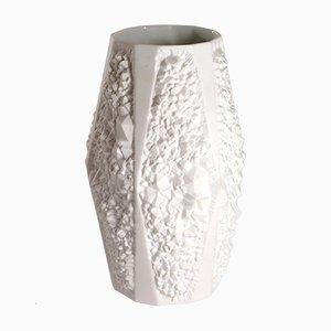 Weiße Matte Mid-Century Porzellanvase