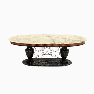 Portoro Marble and Onyx Table, 1950s