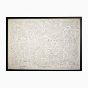 Vintage London Hoxton Generalstabskarte