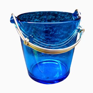 Spanish Glass and Metal Ice Bucket, 1960s