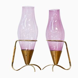 Kerzenständer von Gunnar Ander für Ystad Metall, 1950er, 2er Set