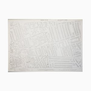 London Ordnance Survey Map of Wimbledon in 1933, 1950s