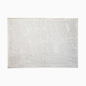 Londoner Wimbledon in 1933 Generalstabskarte, 1950er