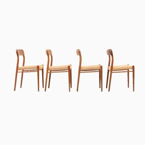 Dining Chairs by Niels O. Møller, Set of 4