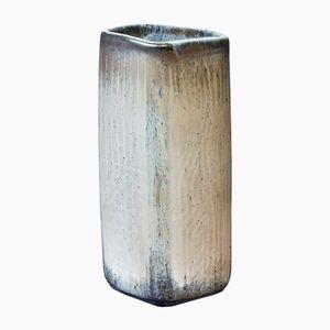 Cremefarbene Steingut Vase von Gunnar Nylund für Rörstrand, 1950er