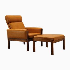 Mid-Century AP62 Lounge Chair & Ottoman by Hans J. Wegner for AP Stolen