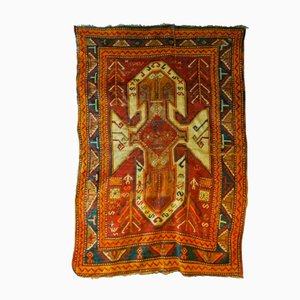 Large Antique Tribal Sevan Rug with Geometric Stylized Design
