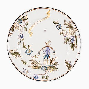 Ceramic Plate by Gio Ponti for San Cristoforo, 1920s