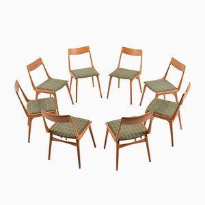 Boomerang Teakholz Stühle von Alfred Christensen für Slagelse Møbelværk, 1960, 8er Set