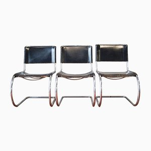 Vintage MR 10 Lounge Chairs by Mies Van der Rohe for Thonet, Set of 3