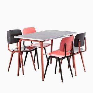 Revolt Stühle & Reform Tisch Esszimmer Set von Friso Kramer für Ahrend de Cirkel, 1954