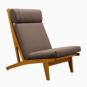 Danish Oak Lounge Chair by Hans J. Wegner for Getama, 1960s