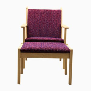 GE284 Easy Chair and 284S Ottoman