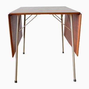 Klappbarer Dänischer Esszimmertisch des Modells 3601 aus Teakholz von Arne Jacobsen für Fritz Hansen, 1950er