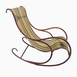 Italian Rocking Chair from Luigi Zurla, 1940s