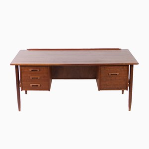 Mid-Century Teak Executive Desk by Ib Kofod-Larsen for Seffle