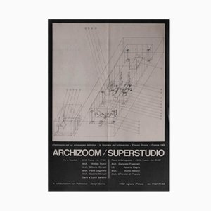 Affiche Superstudio/Archizoom pour Poltronova, Italie, 1969