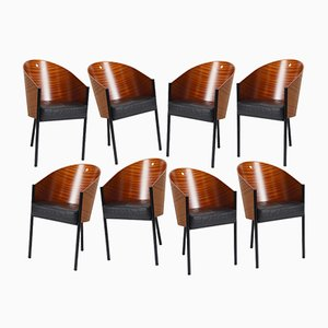 Costes Barrel Back Chairs by Philippe Starck for Driade, 1984, Set of 8