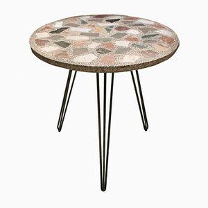 Tavolo da giardino Terrazzo vintage in marmo, anni '50