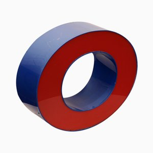 Dutch Red & Blue Light Letter O