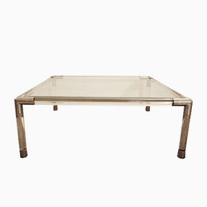 Glass Coffee Table from Maison Jansen