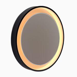 Large Backlit Round Mirror