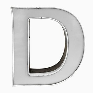 Vintage White & Anthracite Illumininated Letter D