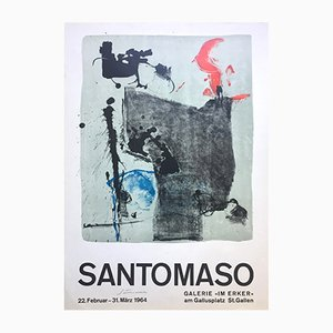 Santomaso Exhibition Poster from Erker-Presse, 1964